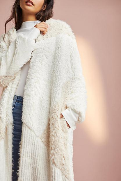 Faux fur cardigan, $148