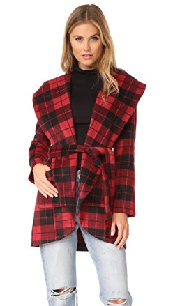 BB Dakota Plaid Overcoat, $74