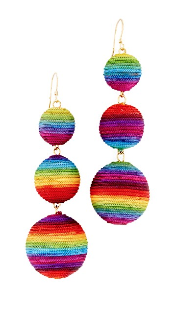 Rainbow Drop Earrings, $27