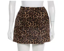 DVF Leopard Mini Skirt