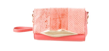 DVF Peach Lips Clutch