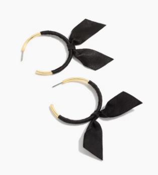 Bow hoops, $24.50