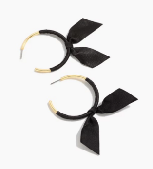 Bow hoops, $24.50