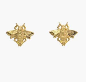 Bee stud earrings, $65