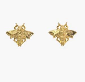 Bee stud earrings, $65