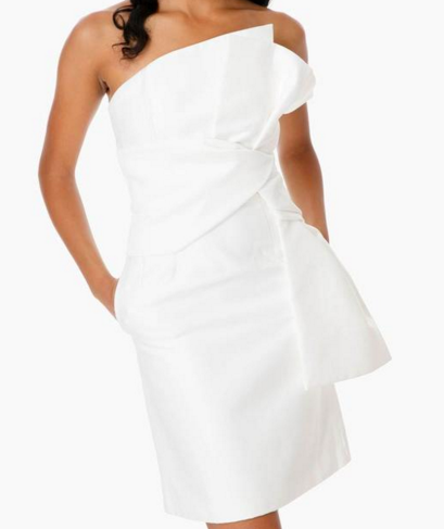 Ivory retrograde dress, $195