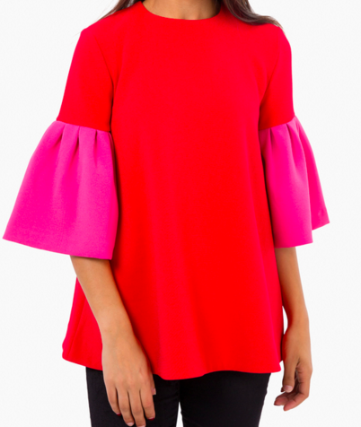 Colorblock swing top, $250