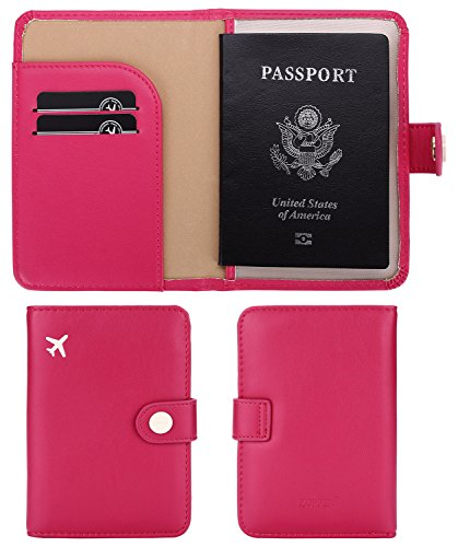 Hot Pink Passport Holder
