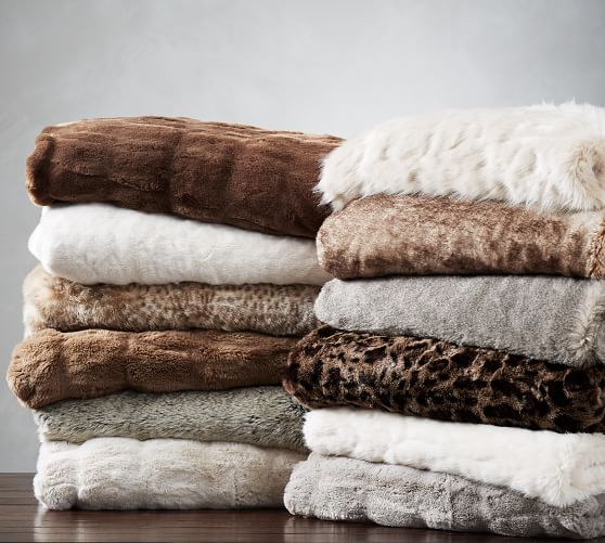 Perfect Last Minute Gift: Faux Fur Throw. ON SALE!