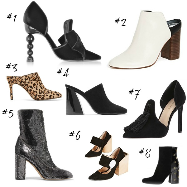 1: Tory Burch Clara Pumps, $558 / 2: Dolce Vita Backless Mules, $150 / 3:  Sam Edelman Leopard Mules, $150 Also available in black, all sizes: Sam  Edelman ...