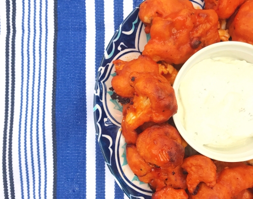 Cauliflower Buffalo Wings for the Super Bowl