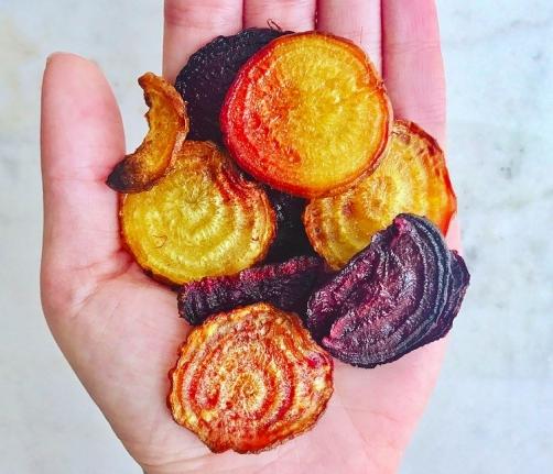 Vegan Beet Chips